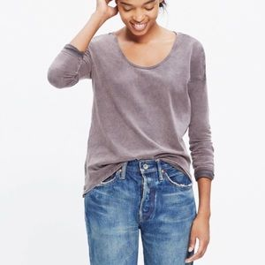 Madewell crinkle wash scoop neck tee